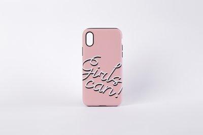 Case Rosado con texto: Girls Can Disponible para: iPhone 6 (este tamaño encaja para iPhone 6) iPhone 6 Plus(este tamaño encaja para iPhone 6 Plus)
