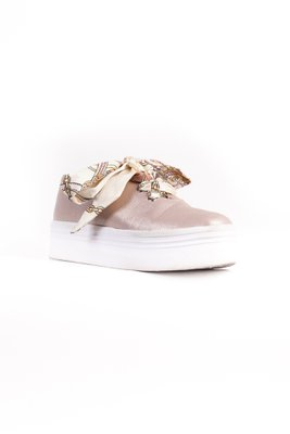 Zapatillas Rose Gold con suela blanca (modelo de pañuelo a elegir)