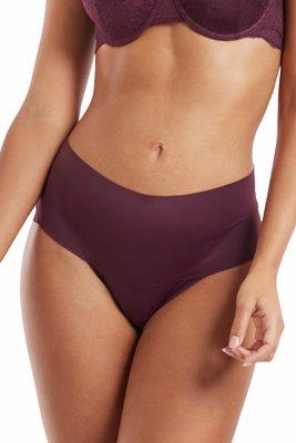 Calzón Liso, encaje posterior, Pretina Ancha, Mayor control superior, Estilo Bikini, gusset de algodón, no deja marcas
