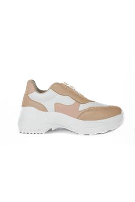 Nuestras zapatillas GIA tienen la combinación en colores nudes, que va perfecta con todos tus outfits. Material: Biocuero sintetico (insumos libres de crueldad animal) Planta: Spanson Alto: 3.5cm