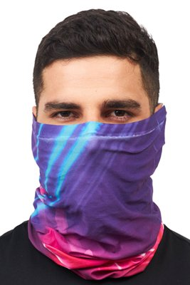 Superfit seamless bandana light microfibra multifuncional sublimado aqua