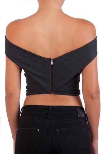 Top mini entrecruzado con cierre en la espalda