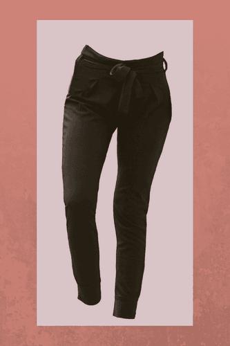 Pantalon con cintura alta, tiene un lazo para amarrarlo como mas te guste.  Medidas prenda:  S (cintura 32.5cm, cadera 40cm, largo 96cm)   M (cintura 36cm, cadera 41cm, largo 96cm)
