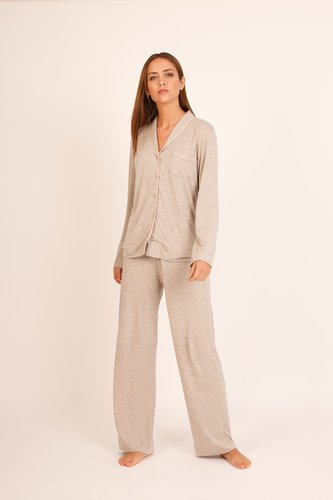 2 piezas, camisa y pantalón de algodón viscosa.
