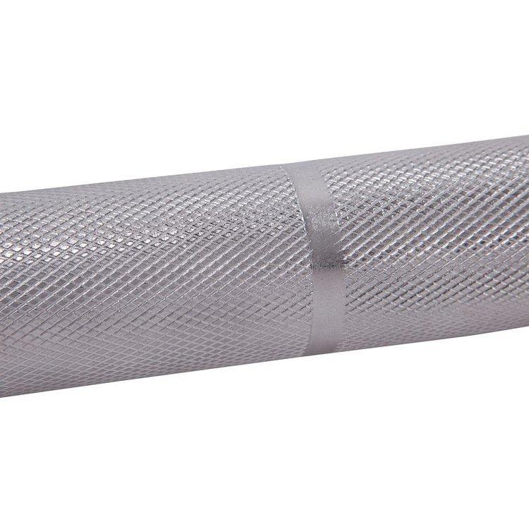 Barra de musculación de rosca para ofrecer mayor seguridad, para completar con un peso máximo de 160 kg, compatible con discos de musculación 28 mm y anillas bloqueadoras de rosca 28 mm    SUS VENTAJAS  SOLIDEZ  Resiste a una carga máxima de 160 kg. Producto con garantía de 5 años.  FACILIDAD DE USO  Se utiliza con discos de 28 mm. Barra roscada para ofrecer mayor seguridad.  SUS CARACTERÍSTICAS  PESO  6,5 kg.  LONGITUD  125 cm.  DISCOS  28 mm.  BLOQU. DISCOS  Anillas enroscadas 28 mm.    INFORMACIÓN TÉCNICA  DIMENSIONES:  Dimensiones: 1,20 m. Peso: 6,15 kg.  COMPOSICIÓN /CONSEJOS  COMPOSICIÓN  BARRA  100.00% Acero  BLOQUEADORES DE DISCO  100.00% Acero  CONSEJO DE MANTENIMIENTO:  Limpiar los rastros de sudor con un trapo seco.  CONSEJO DE ALMACENADO  No guardar en un lugar húmedo ni en el exterior para evitar la corrosión.  RESTRICCIONES DE USO :  Únicamente uso doméstico. Carga máxima 160 kg.  NUESTROS COMPROMISOS  GARANTÍA:5 Años