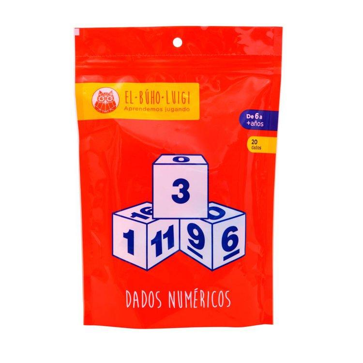 DE 6 AÑOS A MÁS  El juego Dados numéricos es un material educativo que se distingue por ser original e ingenioso, puesto que permite desarrollar un entendimiento de las características de los números y realizar operaciones matemáticas.  Contenido:  • 20 dados  • 01 instructivo