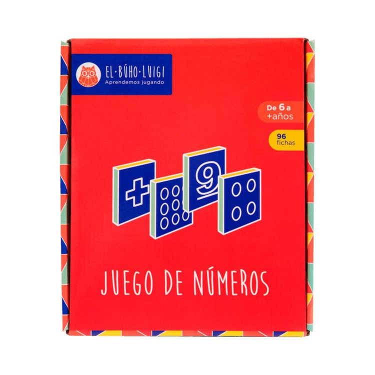 DE 6 AÑOS A MÁS  El material educativo Juego de números permite al niño iniciarse en sus primeras operaciones matemáticas (adición y sustracción), desarrollando en él su pensamiento abstracto y lógico.  Contenido:  • 96 fichas  • 01 instructivo