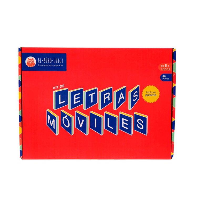 DE 5 AÑOS A MÁS  El juego Kit de letras móviles es un material didáctico que permite el desarrollo de los niños, relacionado con el lenguaje oral, el lenguaje escrito, la imaginación, la socialización y el razonamiento.  Contenido:  • 86 fichas  • 01 bandeja  • 01 pizarrín  • 01 instructivo