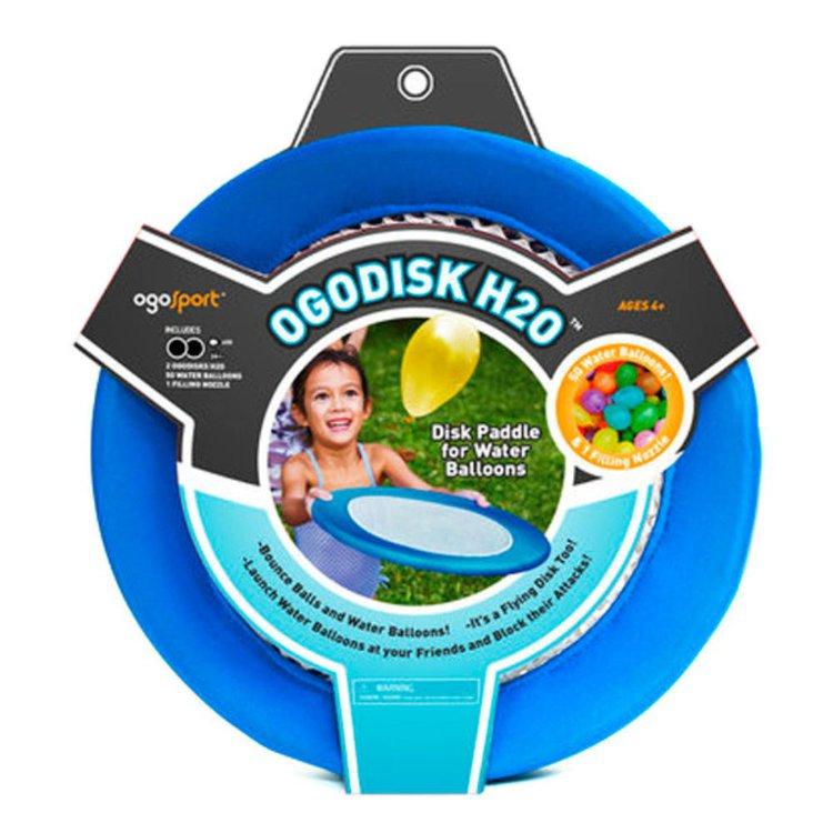 DE 4AÑOS A MÁS  Es el primer producto de ogo diseñado para lanzar globos de agua. Los discos son ligeros por lo que pueden volar y flotar  Contenido:  • 02 OgoDisks H2O  •50 water balloons  Materiales:  • Nylon- Spandex y jebe