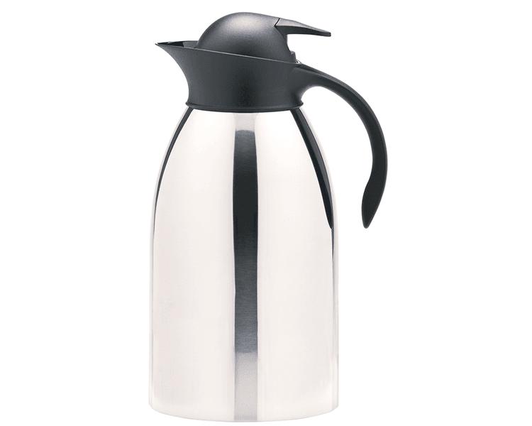 Ampolla de acero Inoxidable  conesrva 12 horas caliente y 24 horas frío  Asa hergonómica  Sistema push pour (no necesita abrir tapa para servir)