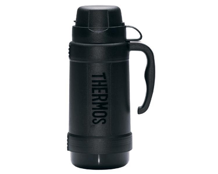 CARACTERÍSTICAS:  Exterior de plástico libre de BPA Ampolla de vidrio Mantiene caliente por 8 horas Mantiene frío por 24horas Incluye 2 tazas para servir líquidos No necesita abrir la tapa para servir No retiene olores