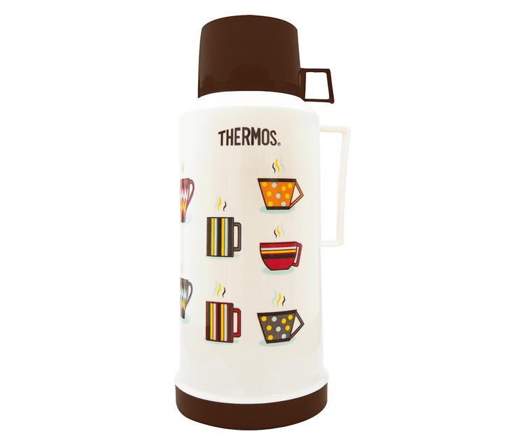 • Envase isotérmico con ampolla de vidrio interna    • Exterior de plásticolibre de BPA   • Aislamiento al vacío   • Líquidos fríos y calientes   • Mantiene bebidas calientes por 12 horas y frías por 24 horas.