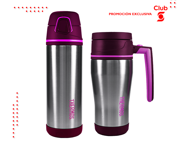 Incluye:  Mug de acero  Botella hidratante de acero
