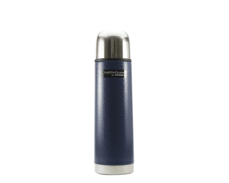 Características:  Capacidad: 500ml. Colores: azul y guinda. Material: acero inoxidable. Mantiene la temperatura ideal. Tapa exterior, se puede utilizar como taza. Tapa interior de medio giro. Sistema anti derrame. Conserva líquidos fríos (24 horas)ycalientes (8 horas). No retiene olores