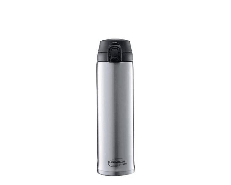 """Características:  Mantiene la temperatura ideal de los líquidos. Material: Acero inoxidable. Botón """"Presiona y toma"""". Sistema anti derrame. Conserva líquidos fríos. No retiene olores."""