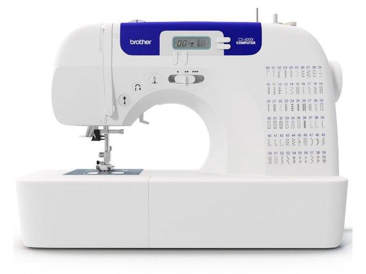 ¡Esta máquina de coser computarizada cuenta con todas las funciones que necesita! La CS6000i tiene 60 puntadas incorporadas (útilitarias, decorativas, de fantasia (heirloom), de acolchado y 7 estilos de ojales de un solo paso. Perfecta para manualidades, prendas de vestir, decoraciones para el hogar o acolchados, ¡esta máquina ofrece todas estas funciones a un precio asequible! Igualmente, la CS6000i incluye una amplia mesa acoplada que le facilitará el trabajo en todos sus proyectos de gran tamaño.    Pantalla LED con selección de puntada computarizada Cuenta con 60 puntadas incorporadas: útiles, decorativas, de estilo antiguo (heirloom), de acolchado y 7 estilos de ojales autoajustables de un solo paso Bobina de inserción Quick Set y sistema de enhebrado automático Ajuste de velocidad electrónico que funciona con o sin pedal Incluye una amplia mesa de plástico para ayudarle con sus proyectos más grandes, como colchas 60 puntadas incorporadas Enhebrado fácil Bobina Quick-Set® Pantalla LCD con selección de puntada computarizada Incluye capacitacion de uso y manejo