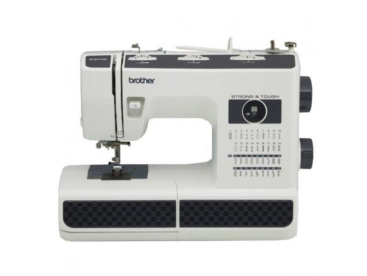 La ST371HD es la máquina perfecta para coser y reparar todos los días, desde tejidos exteriores duraderos como jeans hasta sedas elegantes y ligeras. Incluyendo una placa de la aguja del metal para una alimentación más suave de la tela, y agujas pesadas, la ST371HD puede manejar capas de telas más pesadas. También se incluyen 37 puntos de utilidad y decorativos para los puntadas invisibles, puntadas elásticas, ojales, inserción de cremallera y más. La ST371HD viene completa con 6 pies de costura, incluyendo un pie de zigzag, antiadherente, pie para puntada invisible, cremallera, ojal, y pies de costura para pegar el botón, además, los dientes de arrastre le permiten hacer costura de movimiento libre. La manija incorporada permite que la máquina vaya fácilmente de la tabla de costura al almacenaje, cuando no está en uso. Esta máquina también tiene un enhebrador de aguja fácil incorporado, Quick-Set. Bobina superior, sistema automático de bobinado de la bobina, y un brazo libre para coser puños y mangas. Se incluyen un DVD instructivo para ayudarle a empezar, y un manual de usuario en inglés y español.    37 puntadas incorporadas, incluyendo ojal de tamaño automático de 1 paso. 6 pies de costura: dobladillo ciego, acción de la primavera zigzag, anti adherente, cremallera, costura del botón, ojal. Fácil roscado de aguja Alimentación de gota área flexibilidad de costura Brazo libre para coser puños y mangas. Luz de costura LED Incluye capacitacion de uso y manejo