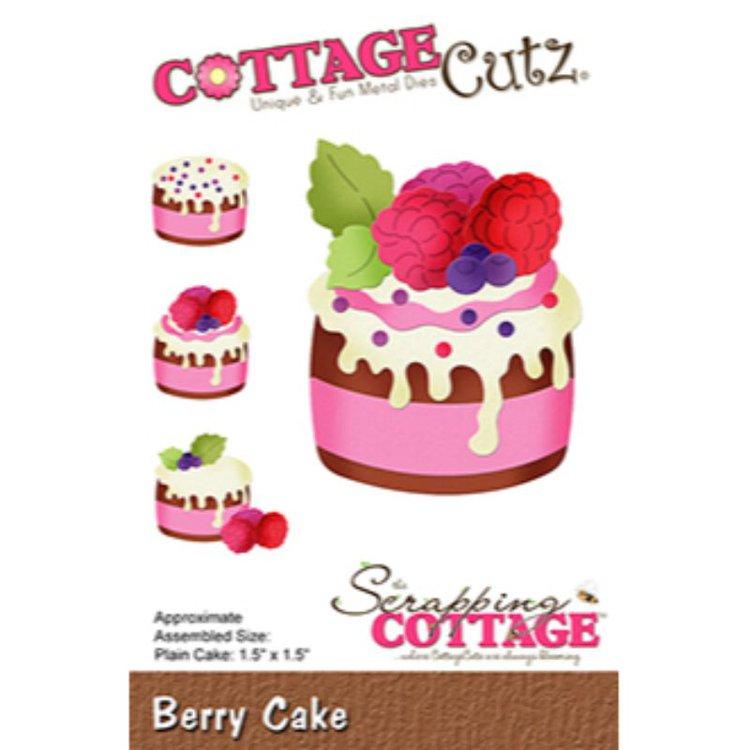 """Troquel """"Berry Cake""""  Troquel de diseño exclusivo de Cottage Cutz, de excelente aleaciónque garantiza su durabilidad, buen corte, perfecto embossado y libre de corrosión. Es compatible con todas las marcas conocidas de troqueladoras como: WeR, Sizzix ,Ellison , CuttleBug, SpellBinders entre otras.  Corta papel, cartulina , foami, tela ,paño lenci, láminas de aluminio.  Equipo Scrapyart"""
