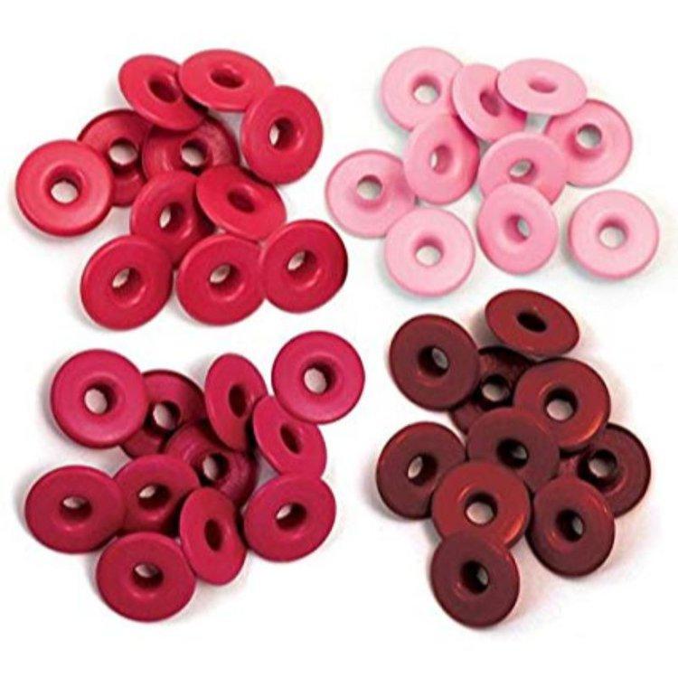 Wide Eyelets  Set de Ojalillos anchos para embellecer y dar un mejor toque a tus creaciones, 10 de cada color. Ideal para tus proyectos de Scrapbooking y otras manualidades.  Equipo Scrapyart