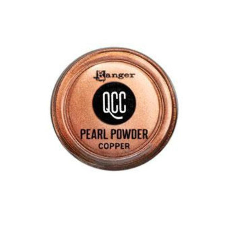 Frasco de polvo de pigmento Perfect Pearls en el color Cooper. El frasco es de 0,4 oz.