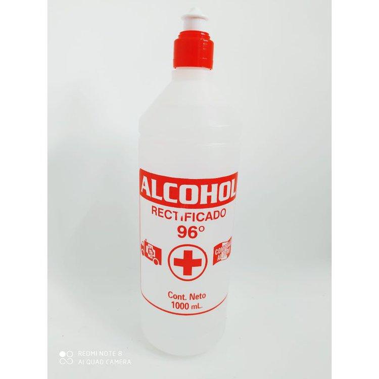 Alcohol etílico de 96º en envase de 1 Lt.. Es alcohol desnaturalizado parcialmente con cloruro de benzalconio, que destaca por su acción antiséptica, bactericida y desinfectante.  Descripción comercial: Alcohol 96º  Descripción química: Alcohol rectificado de melazas y cloruro de benzalconio.  Grado Alcohólico: 96.0º + 1º Aoiv  Forma física: Líquido  Color: Incoloro  Ventas al mayor 982878609