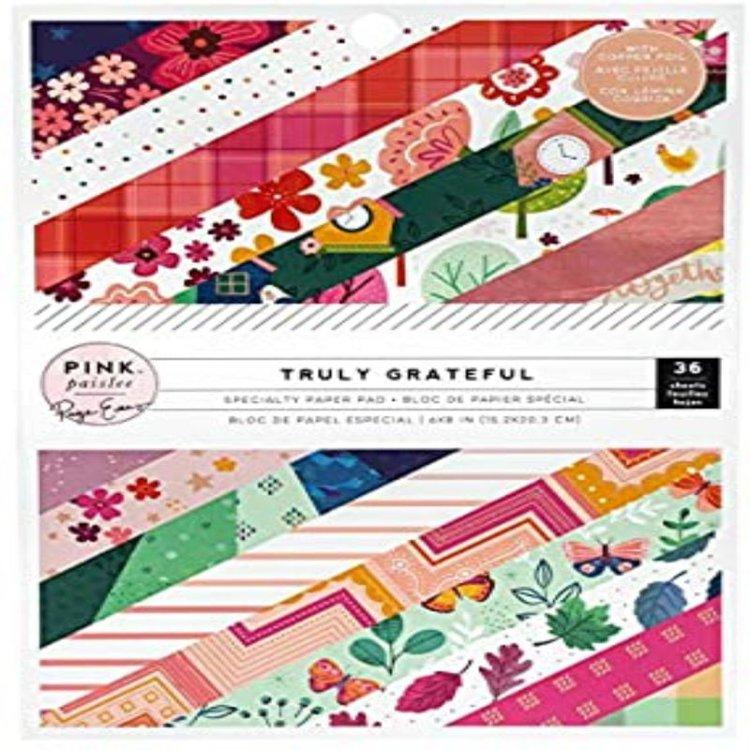Pack de papeles 6x 8 pulgadas, simple faz.  Contiene: 18 diseños diferentes, 2 hojas de cada uno.  Cantidad: 36 hojas