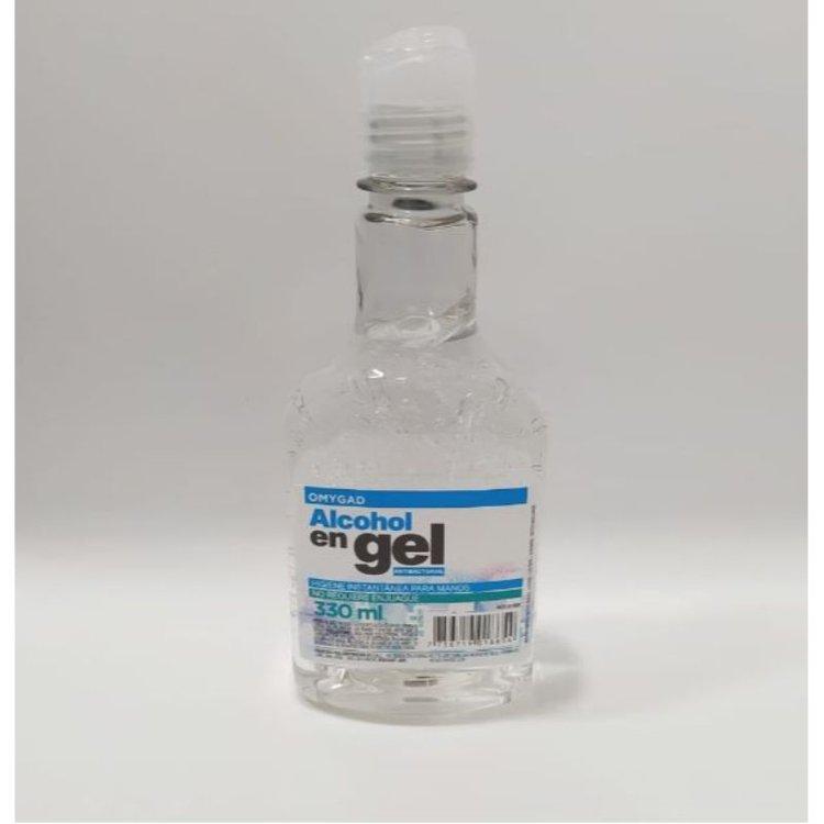 Alcohol en Gel en envase de 330ml.  Limpia y desinfecta instantáneamente las manos o cualquier parte del cuerpo sin usar agua y jabón.  Contiene glicerina y aloe vera para hidratar la piel.  Beneficiando a las personas con piel seca.  La formula a base de alcohol ayuda a combatir los gérmenes y bacterias comunes desinfectando la piel.  Ventas al mayor 982878609
