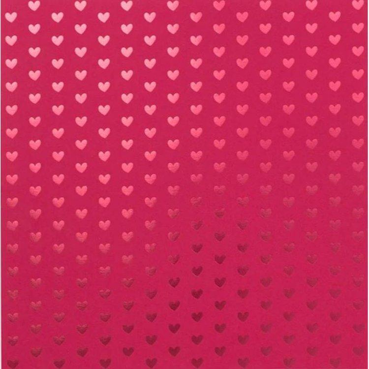 """Cartulina con Foil """"Heart Red Lollipop""""  ¡Te encantará el delicioso color del Lollipop de 12 """"x 12"""" Foil Tone en Tone Cardstock de Bazzill Basics para tus diseños, tarjetas, etiquetas y otros proyectos! .  Equipo Scrapyart"""