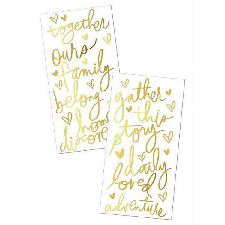 """Stickers Puffy 3D """"Gold Foil Accents"""" de Heidi Swapp  Agregale un toque mejor a tus proyectos de scrapbooking, tarjetería y otras manualidades,con estos Stickers puffy en 3D.  Equipo Scrapyart"""