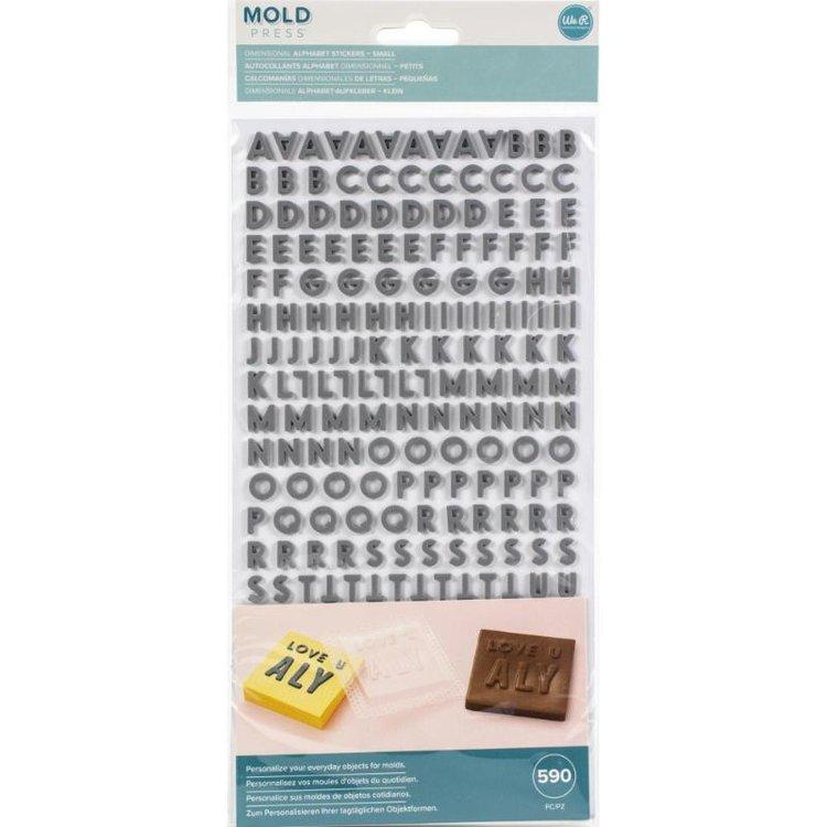 Molde de Letras Button Press   Son pequeños adhesivos con el alfabeto, números y símbolos .  Puedes crear nombres , o frases para personalizar tus lindos moldes   Medida: 1 cm