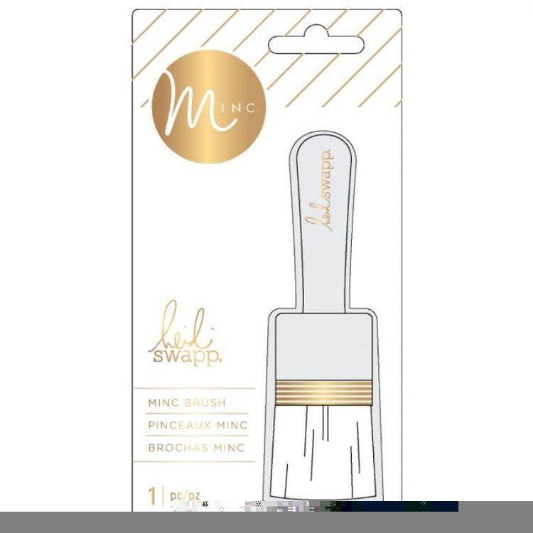 Brocha ParaGlitter  ¡Añada fácilmente brillo a cualquier proyecto con el pincel para escamas y purpurina de la colección MINC de Heidi Swapp!. Ideal para tus proyectos de Scrapbooking, tarjetería , encuadernacion entre otras.  Equipo Scrapyart