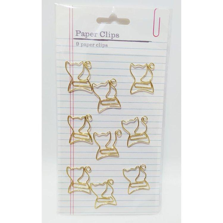 """Clips """"Gold Cats""""  Clips decorativos de color dorado. Ideales para tus proyectos de planners diarios, Scrapbooking entre otras.  Equipo Scrapyart"""