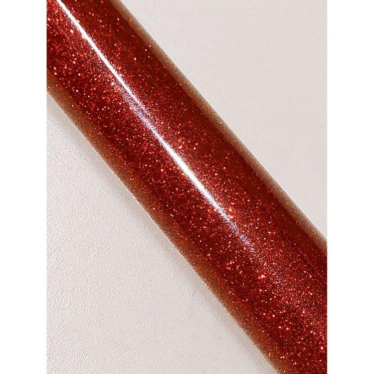 Vinil textil Glitter Rojo  Vinil thermoadherible Glitter, para estampado  Se aplica al algodon, Poliéster y mezclas mixtas.  Es totalmente lavable y resistente.  Tiene excelentes propiedades para el corte.  50 x 52 cm aprox.  Grupo Scrapyart