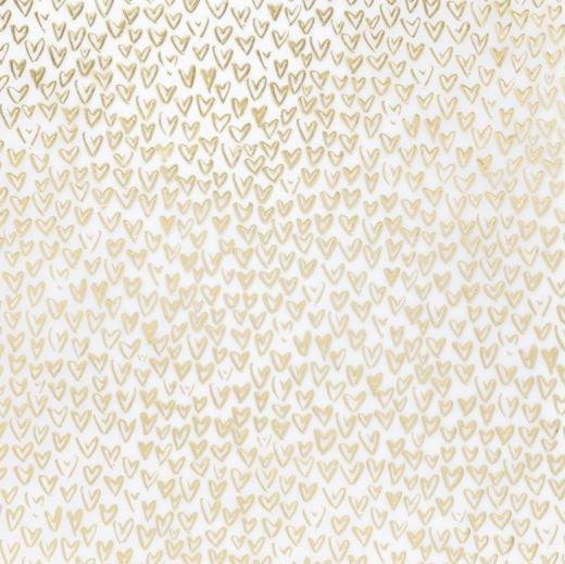 "Vellum ""Gold Hearts""  Laminas de corazones dorados sobre papel vellum.  Equipo Scrapyart"