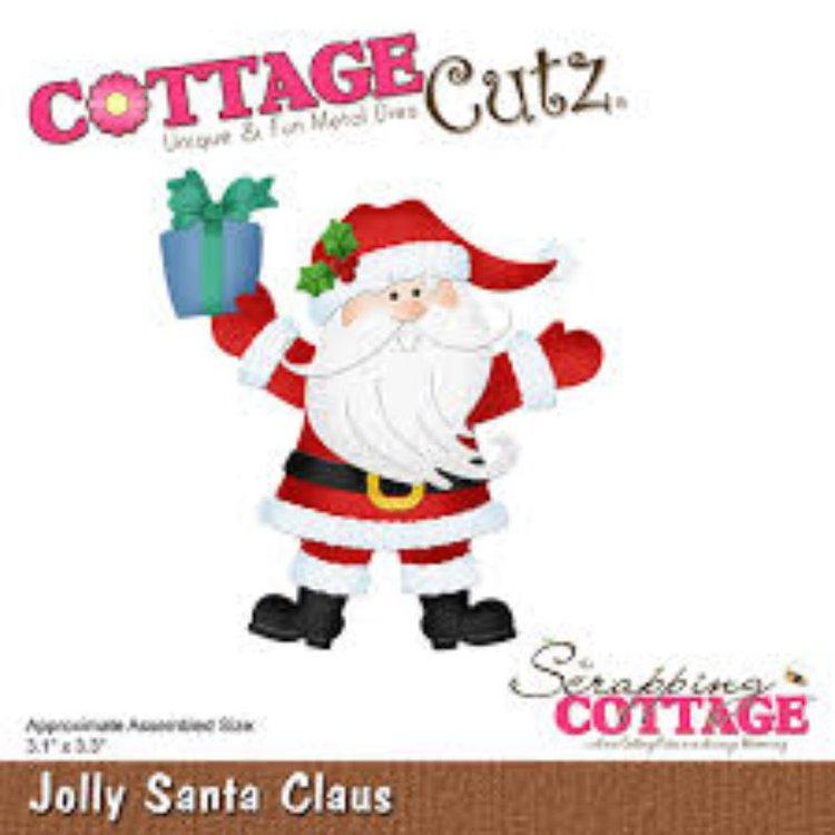 """Troquel """"Jolly Santa Claus""""  Troquel de diseño exclusivo de Cottage Cutz, de excelente aleaciónque garantiza su durabilidad, buen corte, perfecto embossado y libre de corrosión. Es compatible con todas las marcas conocidas de roqueladoras como: WeR, Sizzix ,Ellison , CuttleBug, SpellBinders entre otras.  Corta papel, cartulina , foami, tela ,paño lenci, láminas de aluminio.  Equipo Scrapyart"""