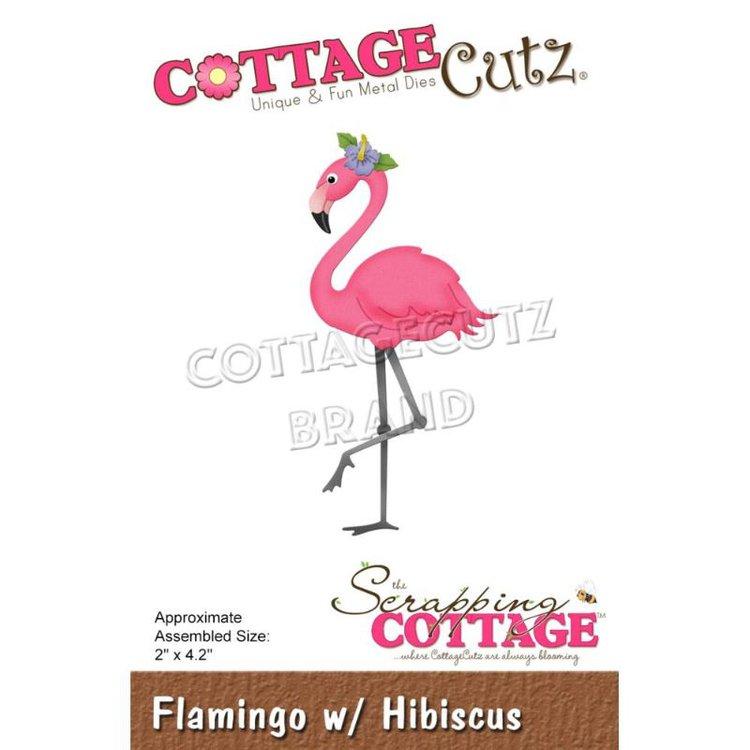 """Troquel """"Flamingo Hibiscus""""  Troquel de diseño exclusivo de Cottage Cutz, de excelente aleaciónque garantiza su durabilidad, buen corte, perfecto embossado y libre de corrosión. Es compatible con todas las marcas conocidas de troqueladoras como: WeR, Sizzix ,Ellison , CuttleBug, SpellBinders entre otras.  Corta papel, cartulina , foami, tela ,paño lenci, láminas de aluminio.  Equipo Scrapyart"""