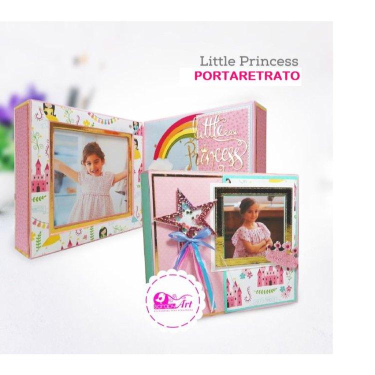"""Porta Retrato """"Little Princess"""" (Hazlo Tu Mismo)  Toda la estructura es a base de cartón , forrada y decorada con cartulina.  Medidas: 17cm x 17cm  incluye materiales y video  Equipo Scrapyart"""