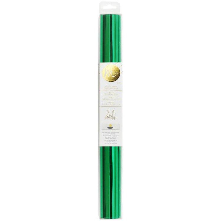 """Foil Minc 12.25"""" Green  Lamina foil especial para usarla con la maquina Minc.  Medida:31.12cm x 1.8 mts de largo  Equipo Scrapyart"""
