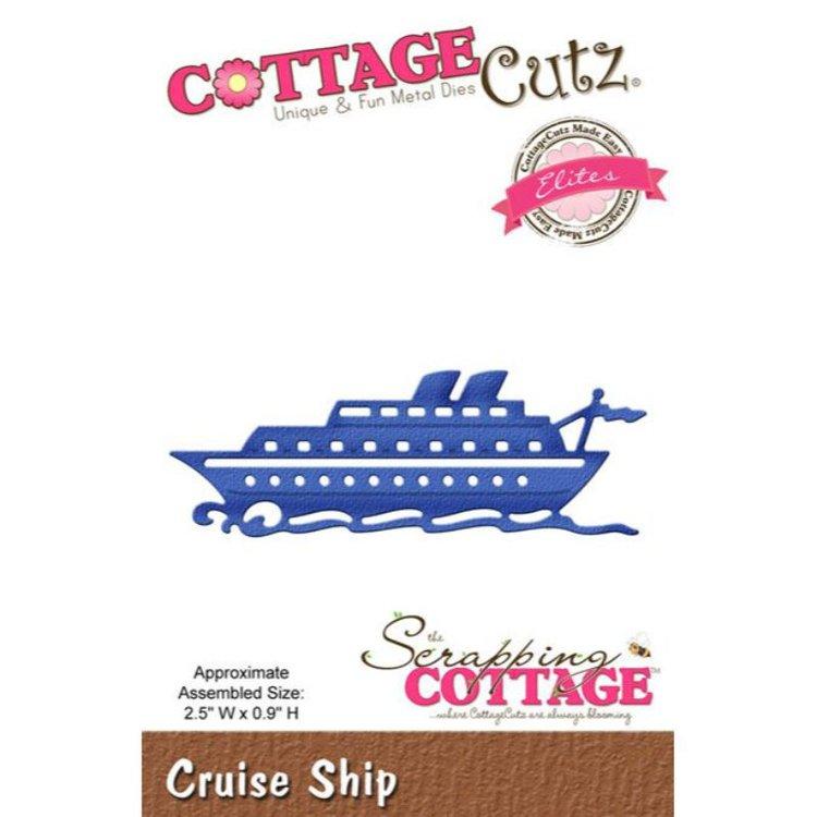 """Troquel """"Cruise Ship""""  Troquel de diseño exclusivo de Cottage Cutz, de excelente aleaciónque garantiza su durabilidad, buen corte, perfecto embossado y libre de corrosión. Es compatible con todas las marcas conocidas de troqueladoras como: WeR, Sizzix ,Ellison , CuttleBug, SpellBinders entre otras.  Corta papel, cartulina , foami, tela ,paño lenci, láminas de aluminio.  Equipo Scrapyart"""
