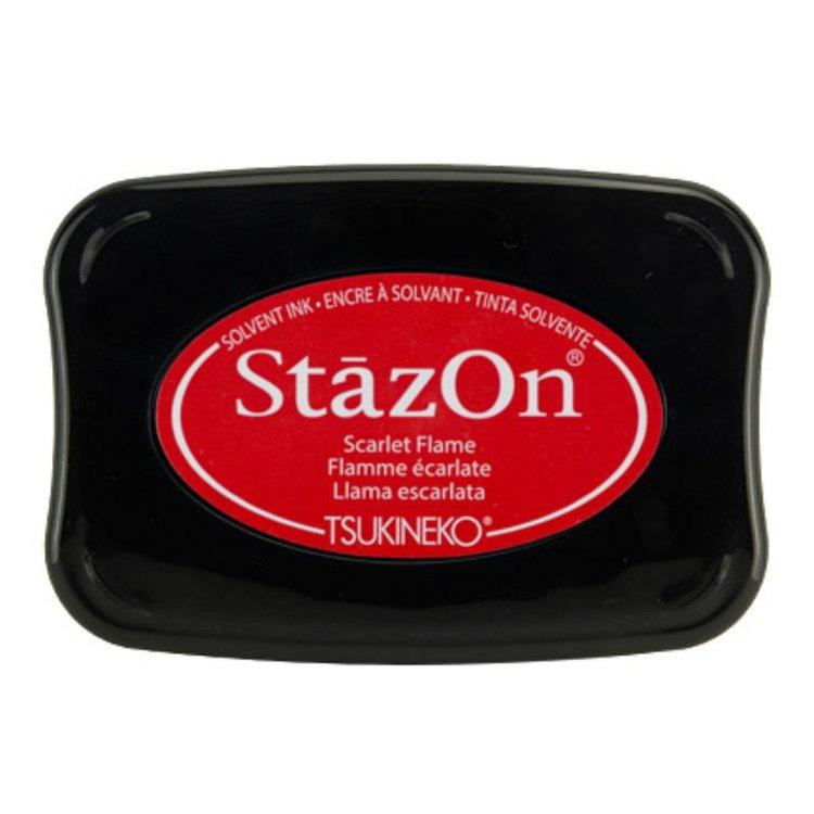 Tinta Stazon InkBlack Cherry  Tintaespecialmente creadapara estapar en:Plásticos, metal, vidrio, cerámica, papel laminado, papel cuché y cuero. No recomendado para el tejido.  Equipo Scrapyart