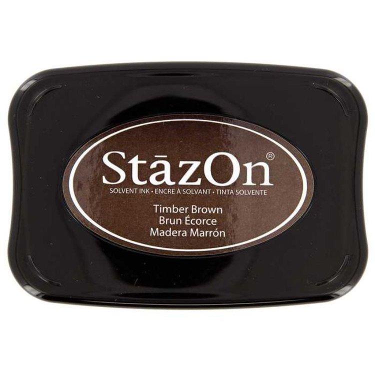 Tinta Stazon InkTimber Brown  Tintaespecialmente creadapara estapar en:Plásticos, metal, vidrio, cerámica, papel laminado, papel cuché y cuero. No recomendado para el tejido.  Equipo Scrapyart