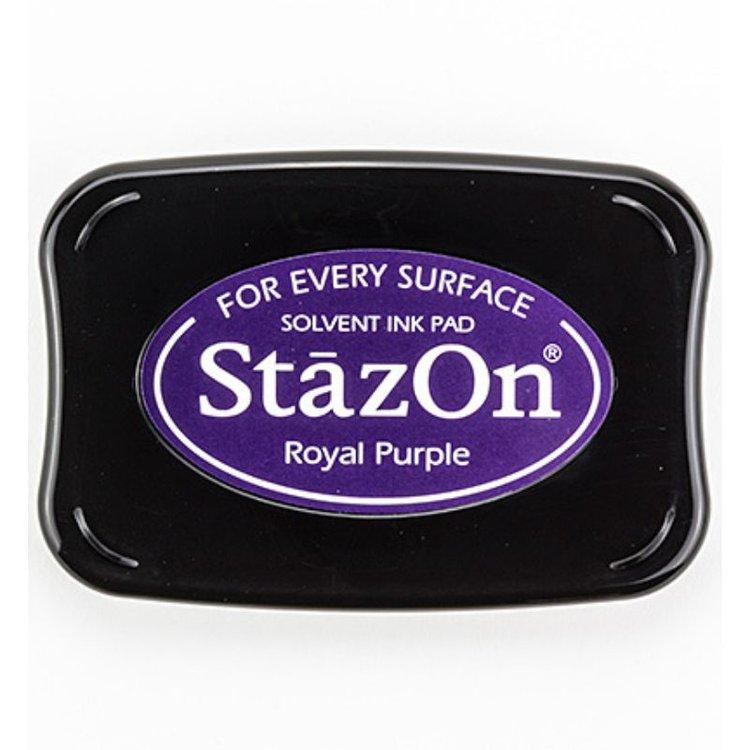Tinta Stazon Ink Royal Purple  Tintaespecialmente creadapara estapar en:Plásticos, metal, vidrio, cerámica, papel laminado, papel cuché y cuero. No recomendado para el tejido.  Equipo Scrapyart