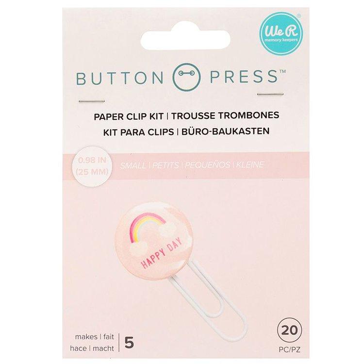 Button Paper Clip Backers  Los Soporte ara sujetar papeles se utilizan con los Botones pequeños de 2,5 cm  Incluye : 20 piezas , que hace5 soportes para sujetar papeles  Equipo Scrapyart