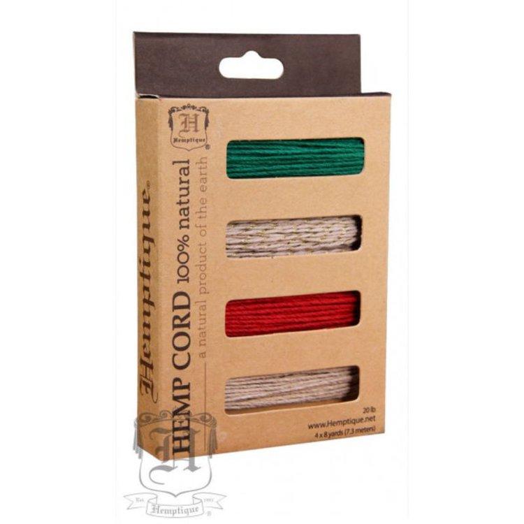 Hilo de fibra natural de cañamo utilizado en scrabooking, tarjetería, encuadernación y decoración en todo tipo de manualidades, es biodegradable de 1mm. de espesor  Contenido : 3mt (cada color )  Equipo Scrapyart