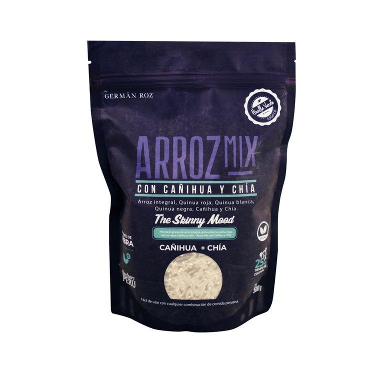¡Complementa tus comidas con nuestro nuevo Arroz Mix!  Contiene 4 veces más de proteína y 17 veces más de fibra que un arroz convencional. Hecho con insumos 100% peruanos y naturales.  Ingredientes: arroz integral, quinua tricolor, cañihua y chía.  Doypack: 500g