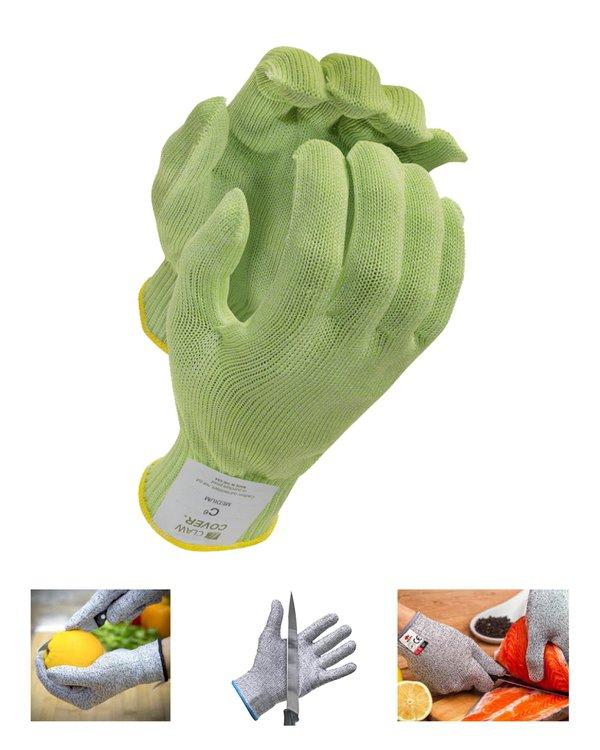 Ideales para restaurantes, centros de producción de alimentos y para los cocineros de casa!  Este guante te protege de cortes con cuchillo cuando estas manipulando alimentos de cualquier tipo. Si vas a pelar papas o verduras, si vas a cortar carnes, pollo o pescados, este guante te mantendrá protegido de los cortes durante todo el tiempo.  Debes usarlo solo en la mano contraria del cuchillo. Es decir, la que agarra el alimento.  No tengas miedo! Estos guantes cumplen los estándares FDA 21 CFR 177.2800 y están categorizados como ANSI Nivel 5 y 7 de protección al corte.  Son completamente seguros y están aprobados para el contacto con alimentos.También tienen un sistema antimicrobiano llamado IES.Además están fabricados en Estados Unidos siguiendo todas las regulaciones americanas.  Puedes lavar el guante en la lavadora y secarlo al aire o a máquina (si usas una secadora no lo seques con aire caliente pues puede encogerse).  Ojo! Por tu seguridad, no debes hacer experimentos de corte con el guante. Si tienes alguna duda puedes contactarnos y te ayudaremos.  Son Ambidiestros y vienen en talla XS, S, M y L.  Bolsa de 1 unidad.