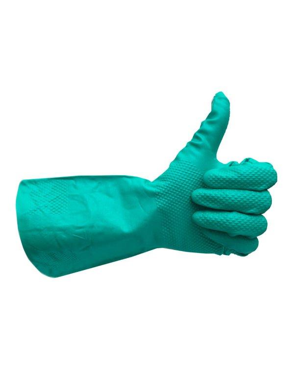 Guantes de Nitrilo, ambidiestros yreutilizables de larga duración.   Excelente resistencia mecánicay a productos químicos.  Este es el guante ideal para las labores diarias generales en cualquier tipo de industria o en el hogar. Se ajusta bien a las manos otorgando la destreza y comodidad necesaria para el día a día.    En conformidad con los Estándares:   FDA 510K 21 CFR 170-199   ISO 9001:2008 &ISO 13485:2003   Estos guantes son Food Safe!    Desinféctalos con jabón, alcohol o lejía al finalizar el uso y listo! Si usas lejía, recuerda enjuagar el guante y luego dejarlo secar.  Tallas 7/S, 8/M, 9/L, 10/XL.Bolsa de 1 par
