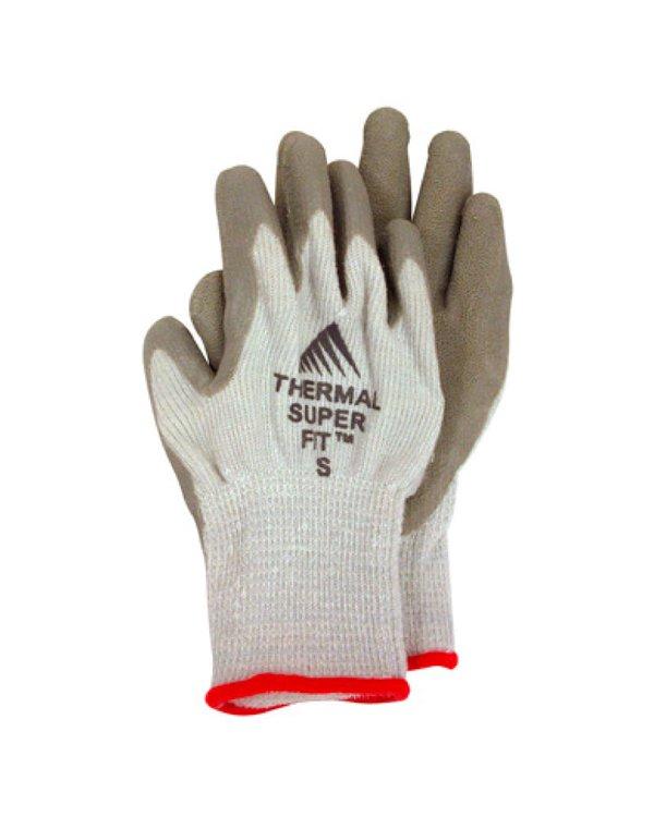 Los Guantes Térmicos Super Fit™ de protección térmica hasta-35°Cestán diseñados para realizar labores en ambientes fríos por largos períodos de tiempo.    Su fabricación de hilados térmicos permiten la liberación del sudor y la retención del calor en el interior de guante, para así mantener al usuario caliente, protegido y cómodo.    Los Guantes Térmicos Super Fit™ se mantienen flexibles y tienen la palma y los dedos recubiertos para un mejor agarre, mayor protección y durabilidad.    Disponible en Tallas M y L.  Empaque de 01 Par.
