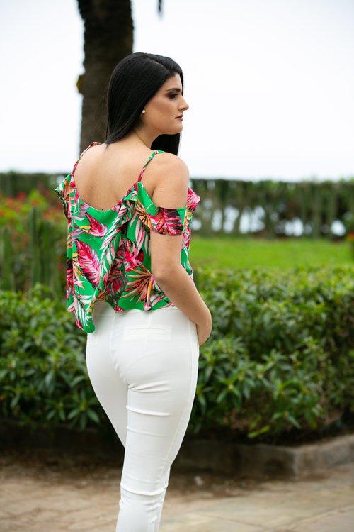 Blusa de rayón ,super fresca ideal para la temporada Primavera - Verano 20