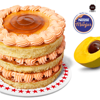 NUEVA Mini torta con deliciosa crema de lúcuma en su relleno junto con el riquísimo manjar blanco Nestlé.